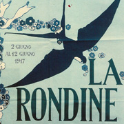 Playbill of the first Italian performance of La rondine